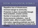 social ecological signals