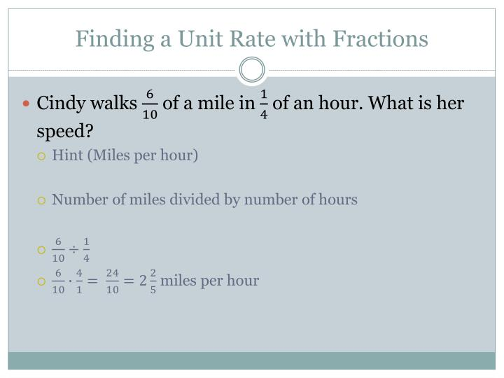 Finding a Unit Rate with Fractions