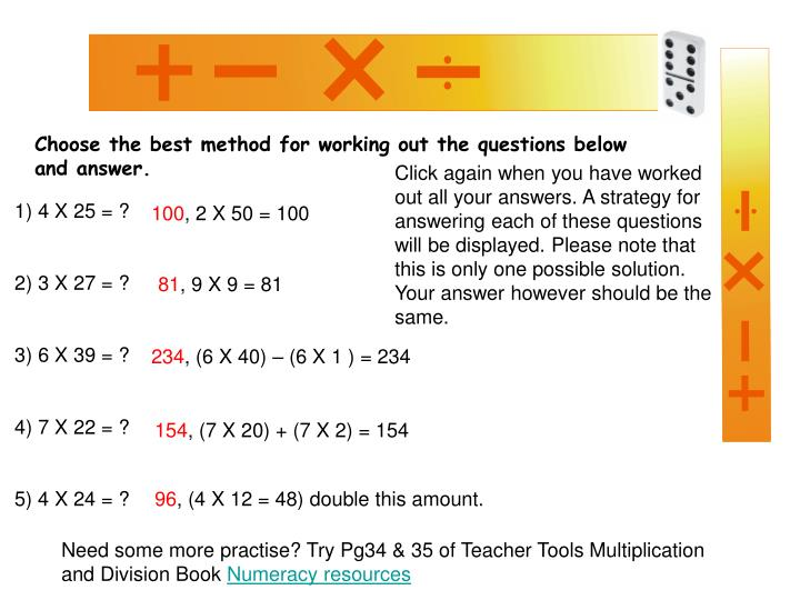 Choose the best method for working out the questions below and answer.