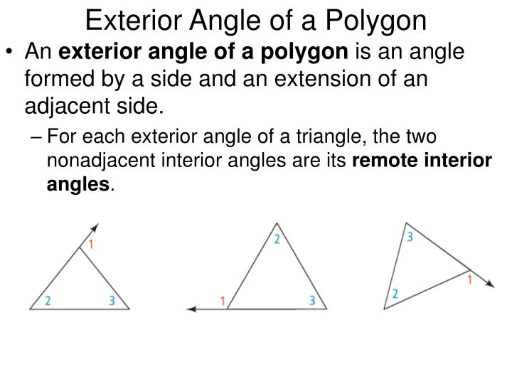Exterior angles of a polygon definition home decor for Exterior angle theorem
