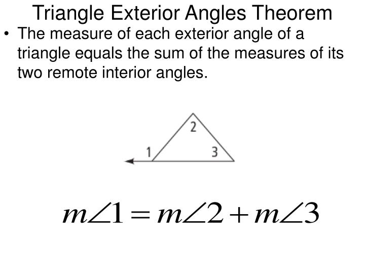 Ppt 3 5 parallel lines and triangles powerpoint for Exterior angle theorem