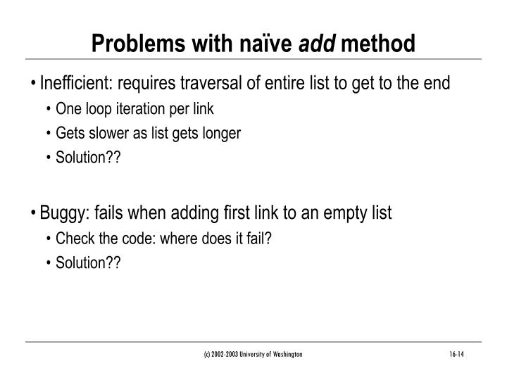 Problems with naïve