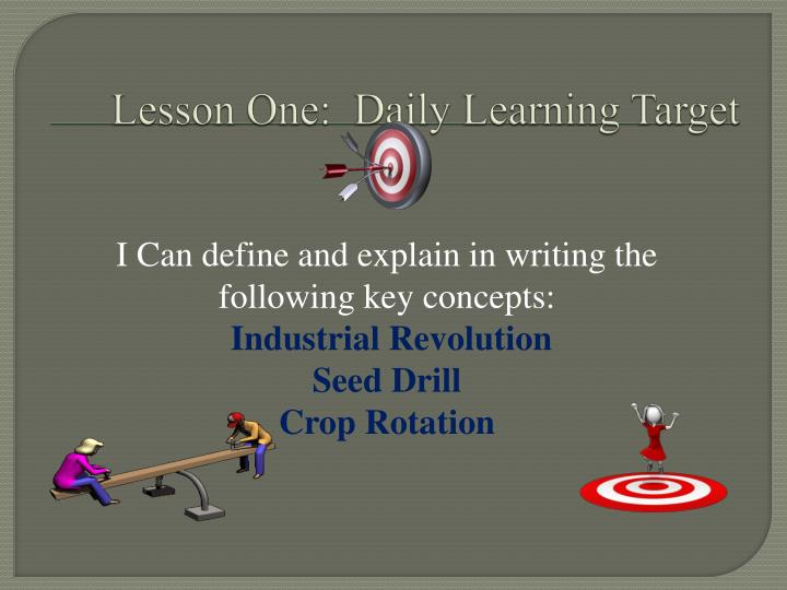 Lesson One:  Daily Learning Target