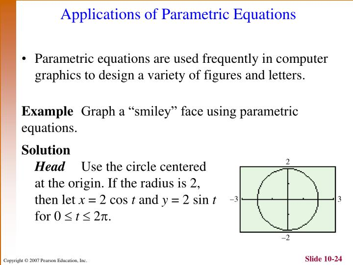 Applications of Parametric Equations