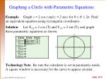 graphing a circle with parametric equations