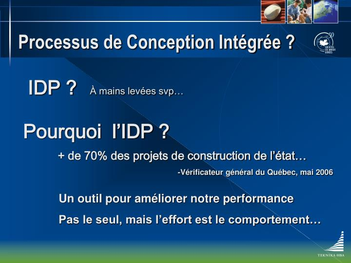 Processus de conception int gr e