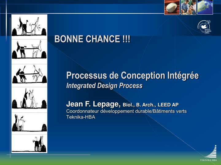 BONNE CHANCE !!!