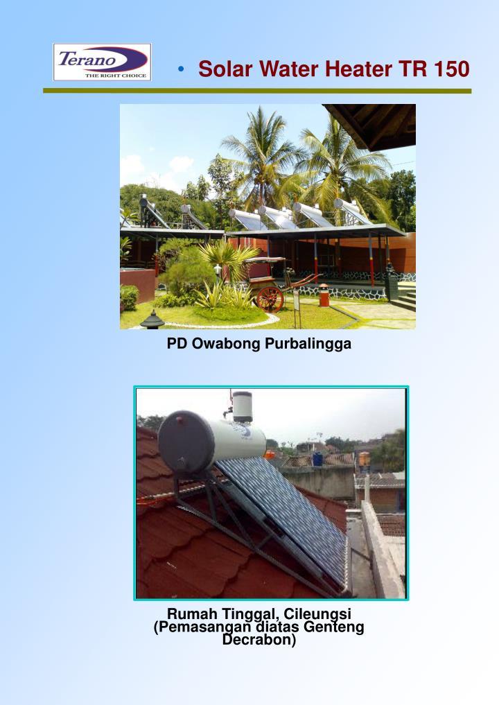 Solar Water Heater TR 150
