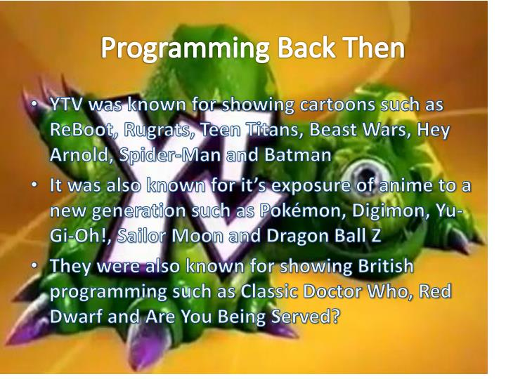Programming Back Then