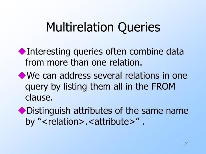 Multirelation Queries