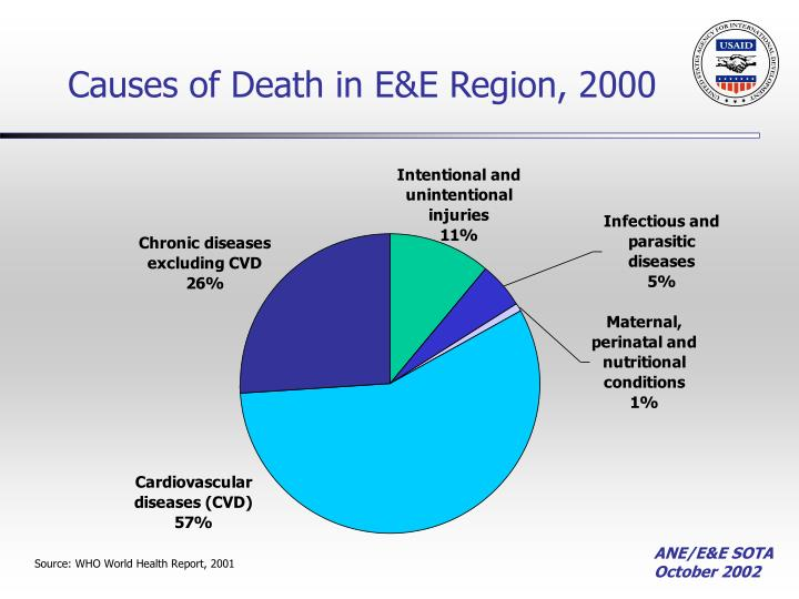 Causes of Death in E&E Region, 2000