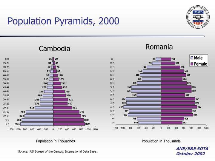 Population Pyramids, 2000