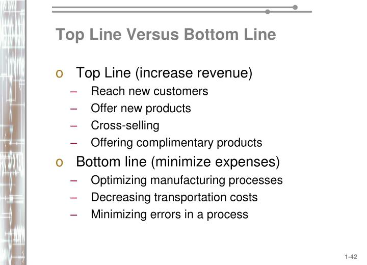 Top Line Versus Bottom Line