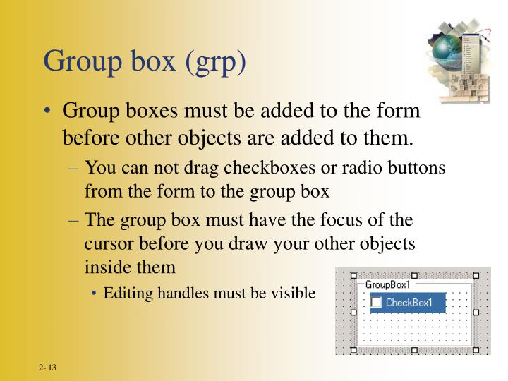 Group box (grp)