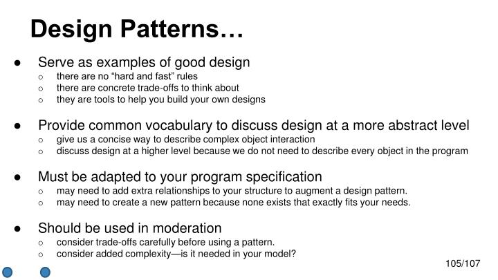 Design Patterns…