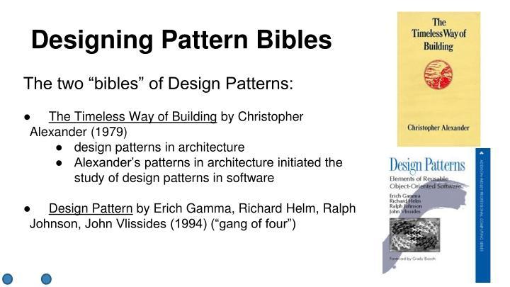 Designing Pattern Bibles