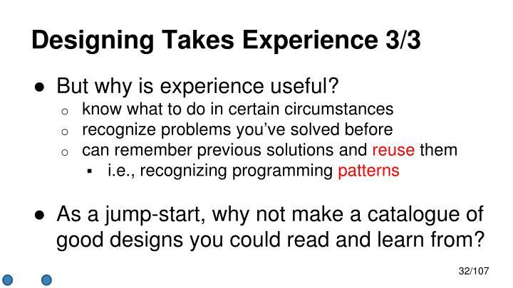 Designing Takes
