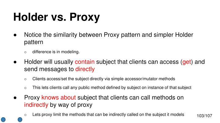Holder vs. Proxy