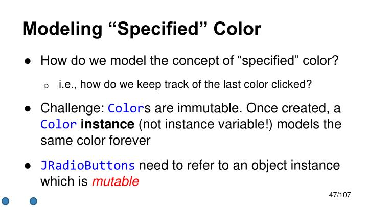 "Modeling ""Specified"" Color"