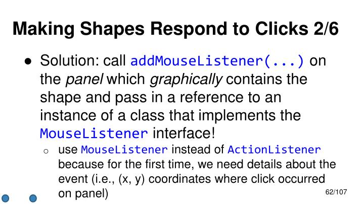 Making Shapes Respond to Clicks