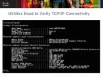 utilities used to verify tcp ip connectivity4