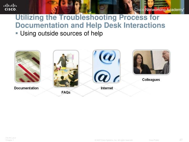 Utilizing the Troubleshooting Process for Documentation and Help Desk Interactions