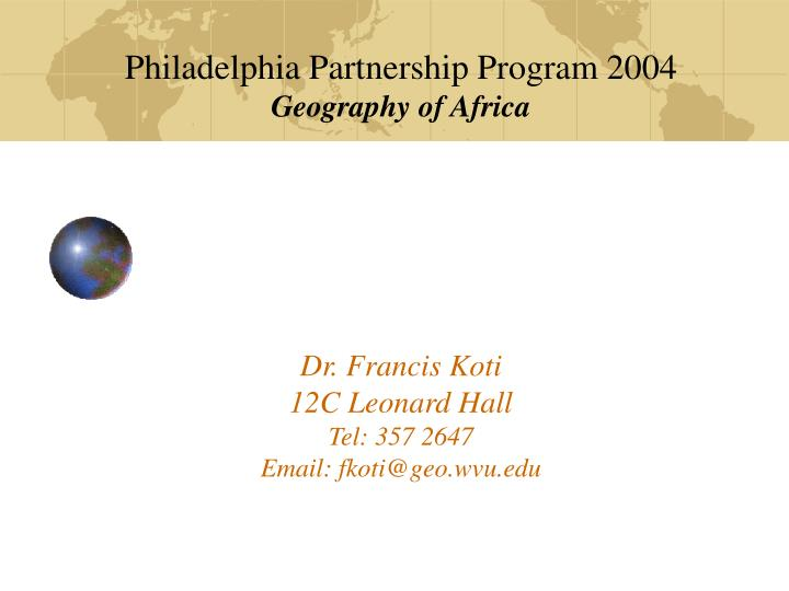 Philadelphia Partnership Program 2004