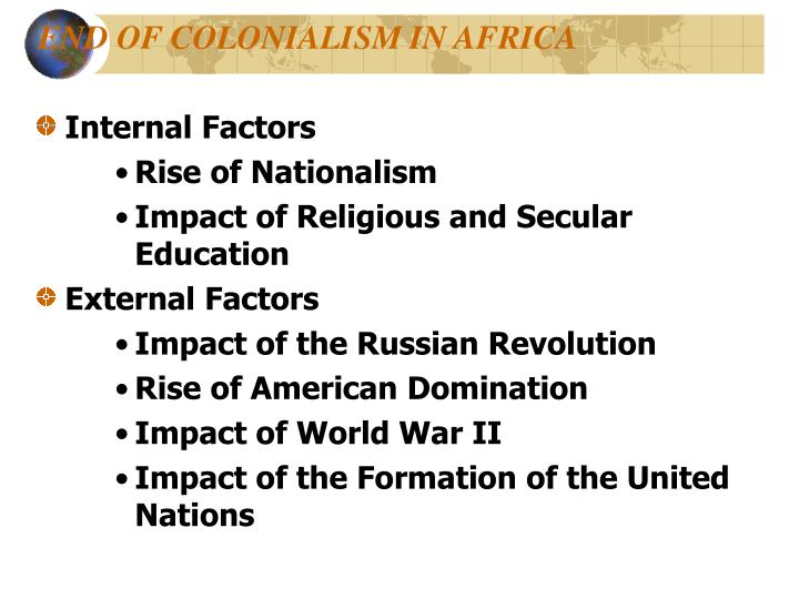 END OF COLONIALISM IN AFRICA