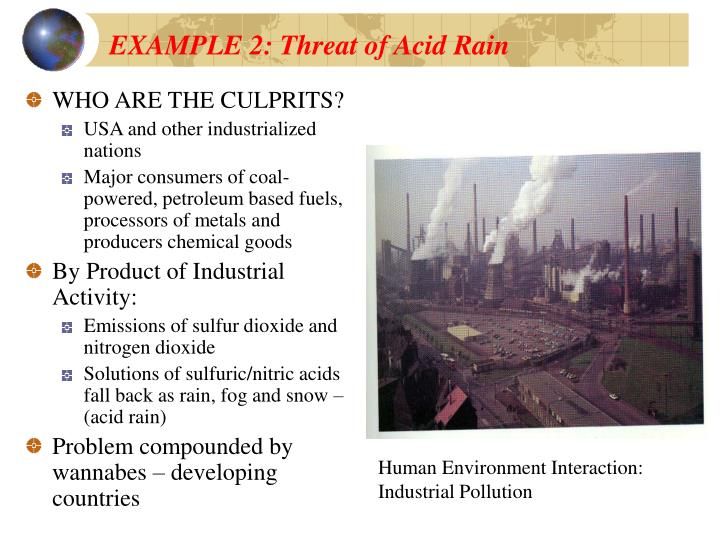 EXAMPLE 2: Threat of Acid Rain