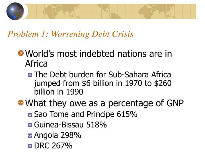 Problem 1: Worsening Debt Crisis