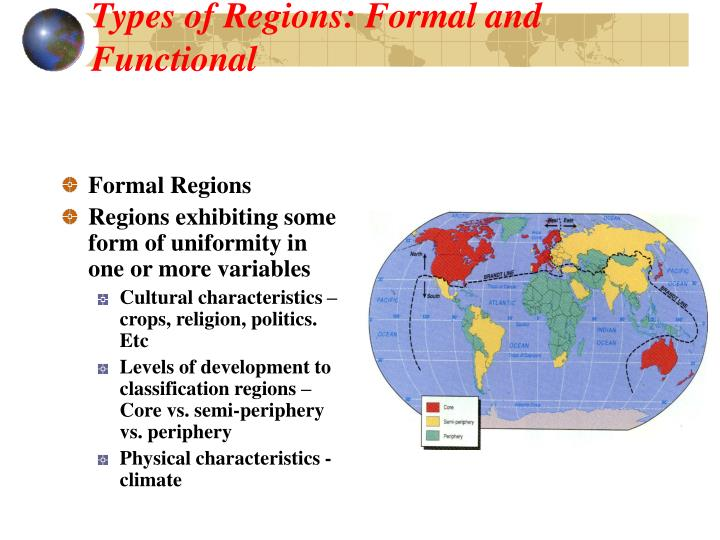 Types of Regions: Formal and Functional