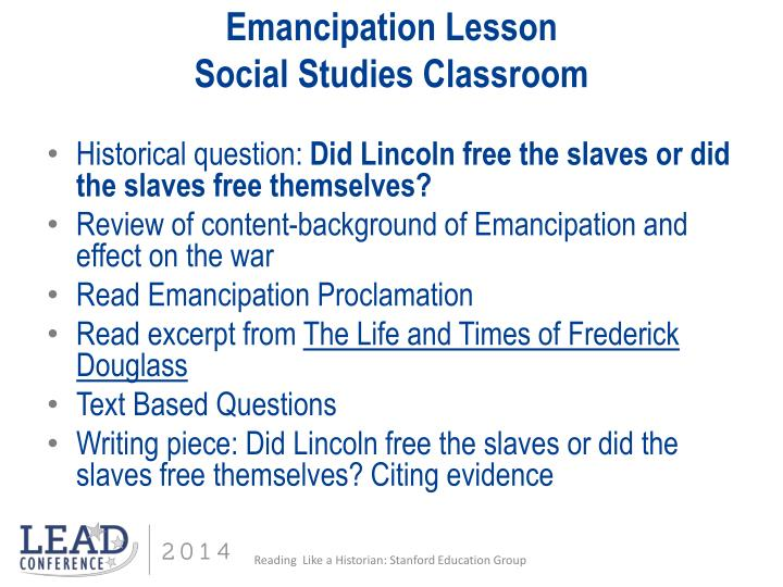 Emancipation proclamation essay questions