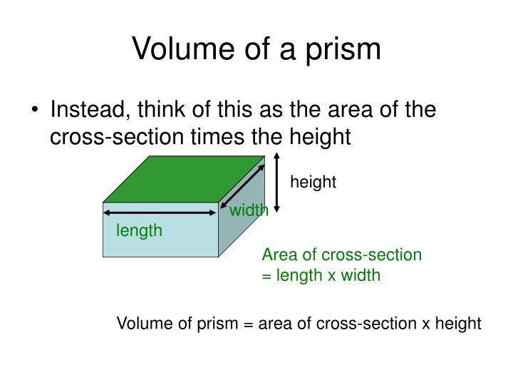 Volume of a prism1
