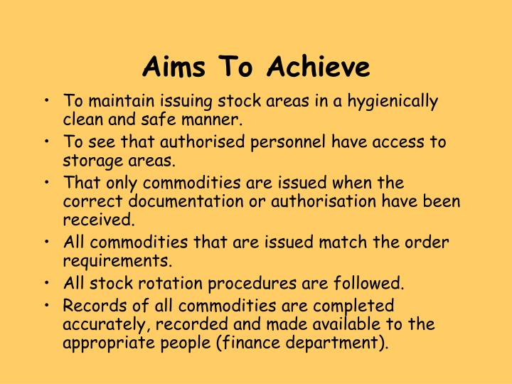 Aims To Achieve