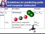 guidelines for predicting polar and nonpolar molecules1