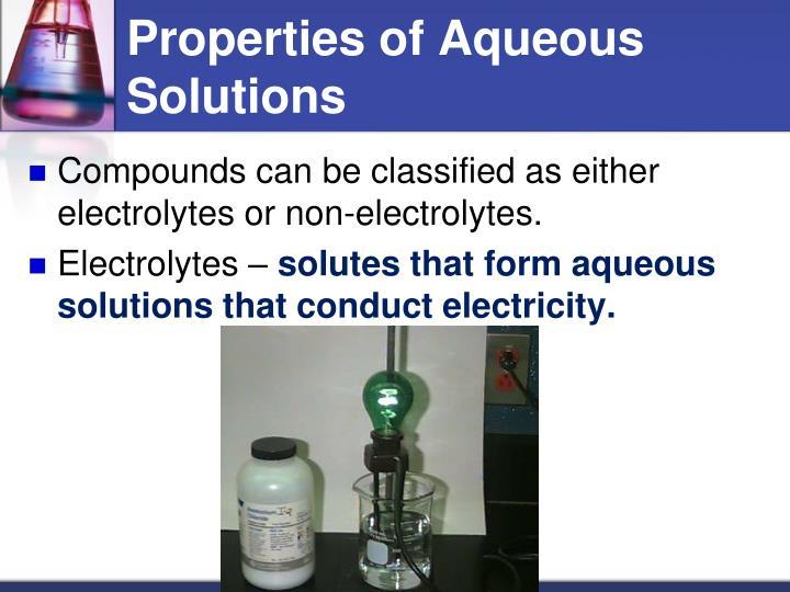 Properties of Aqueous Solutions