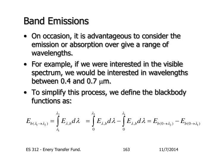Band Emissions