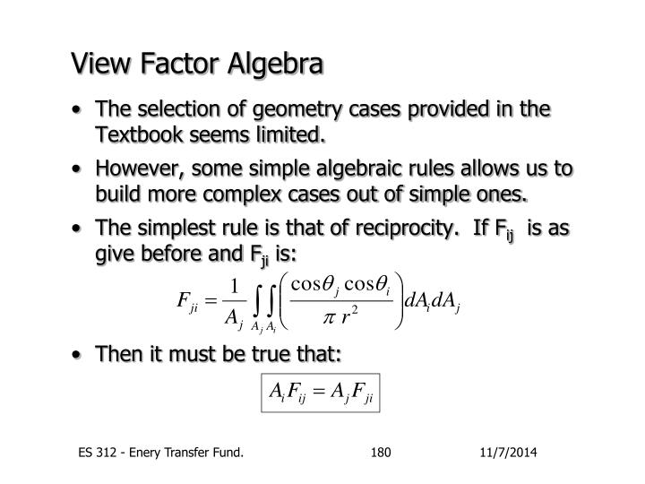 View Factor Algebra