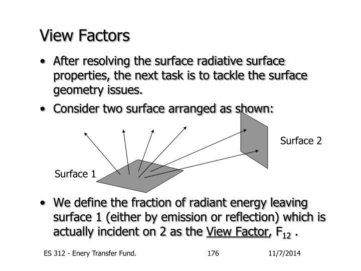View Factors