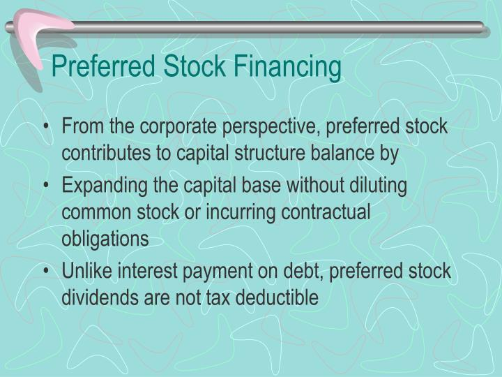 Preferred Stock Financing