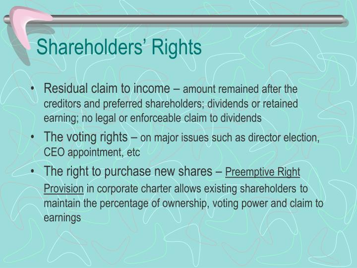 Shareholders' Rights