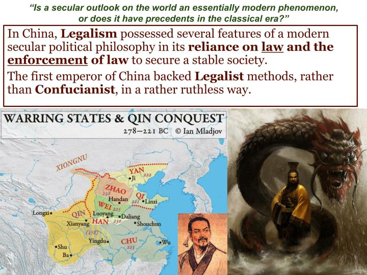 """""""Is a secular outlook on the world an essentially modern phenomenon,"""