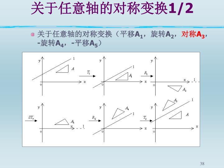 关于任意轴的对称变换
