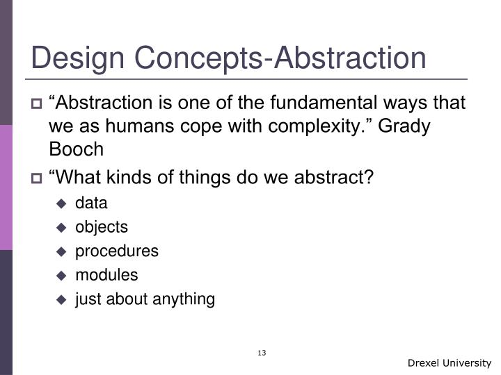 Design Concepts-Abstraction