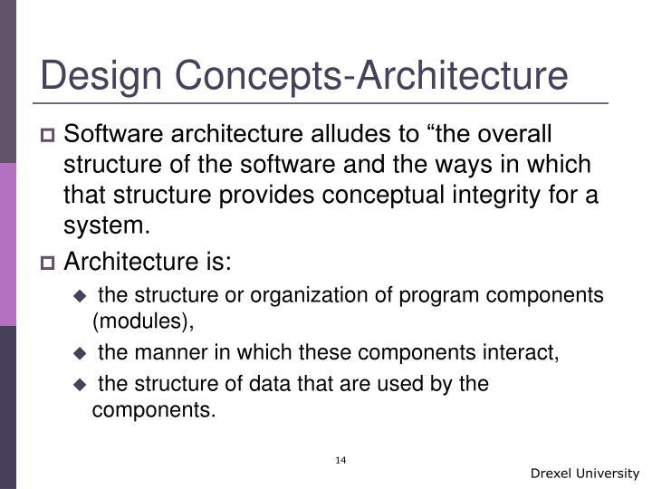 Design Concepts-Architecture