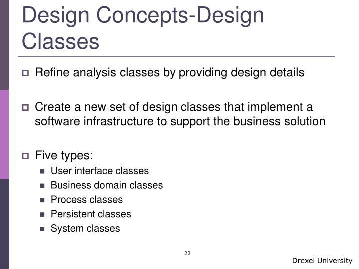 Design Concepts-Design Classes