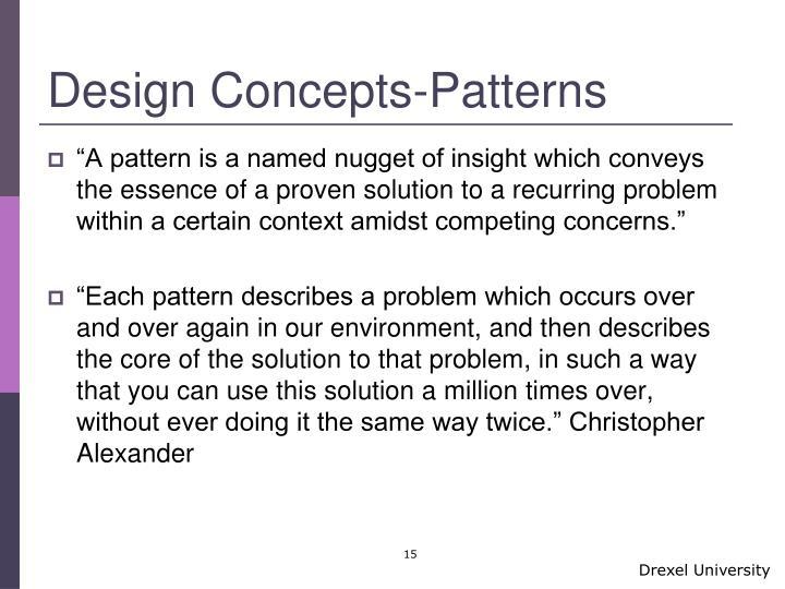 Design Concepts-Patterns