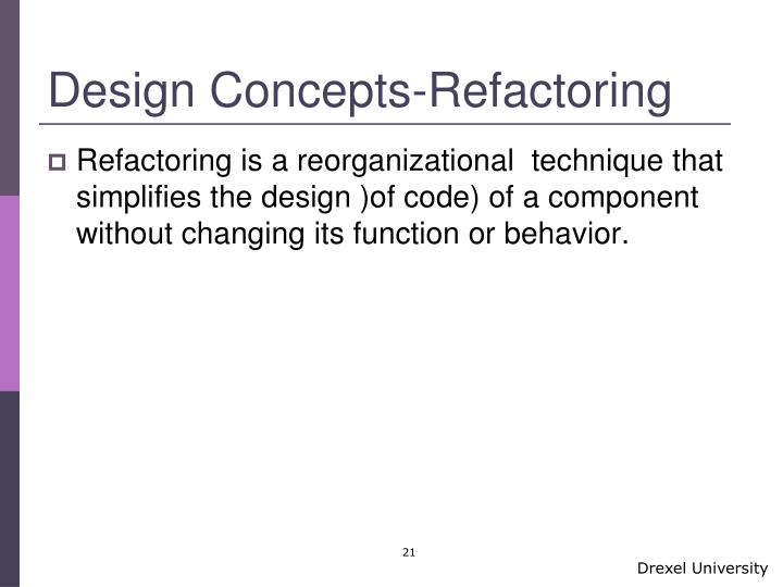 Design Concepts-Refactoring
