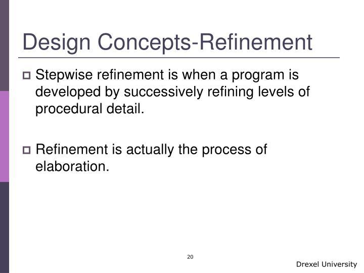 Design Concepts-Refinement