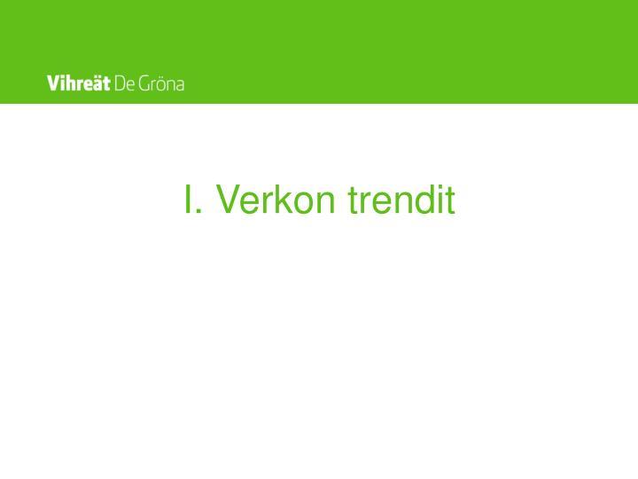 I. Verkon trendit